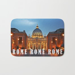 SAINT PETER'S CATHEDRALE in ROME Bath Mat