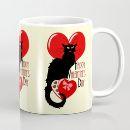 Le Chat Noir with Chocolate Candy Gift Coffee Mug