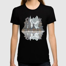 STONE KIRNS AND MOUNTAIN PEN DRAWING T-shirt