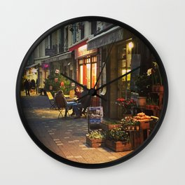 Evening in Provence Village Wall Clock