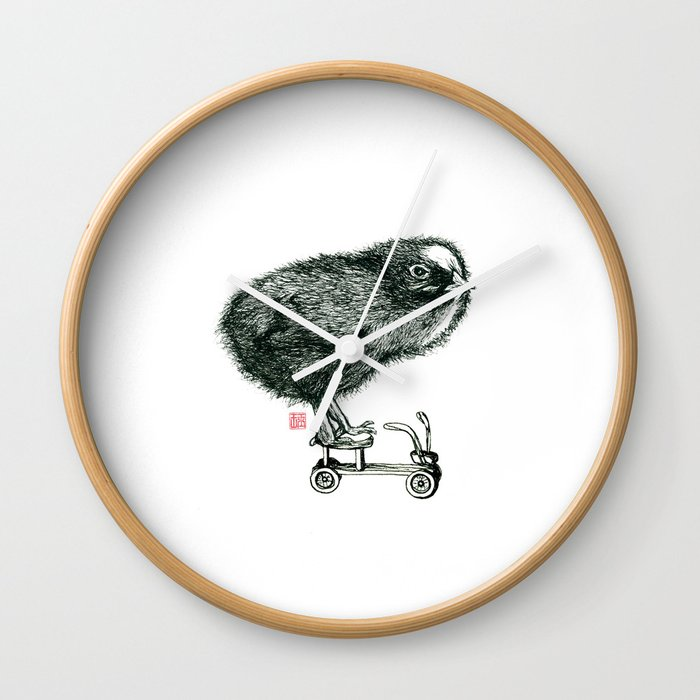 Chick on speed Wall Clock