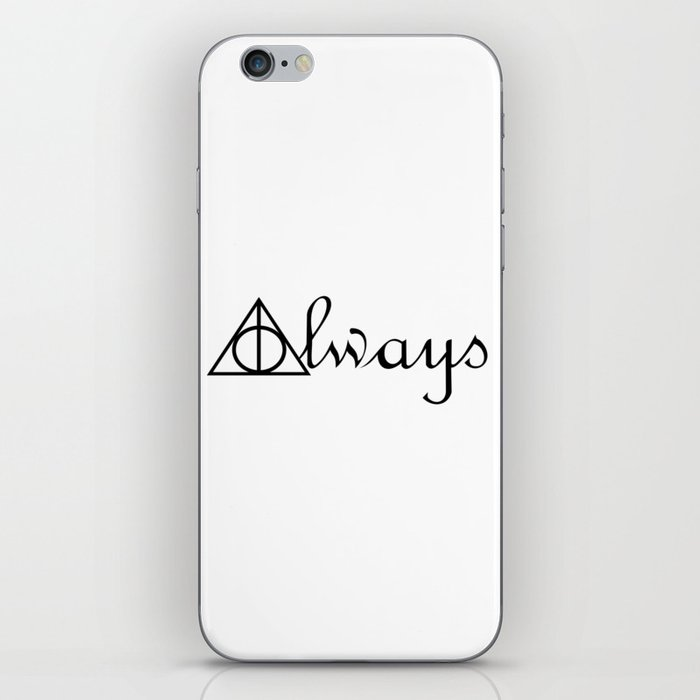 Always Deathly Hallows Symbols Harrypotter Iphone Skin By Artslow