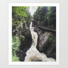 Hill Falls Gorge Art Print