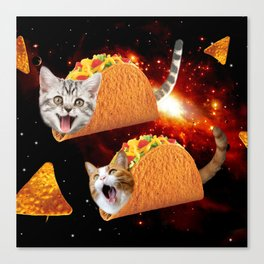 Taco Cats Space Canvas Print
