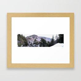 Wondrous Winter Scene Framed Art Print