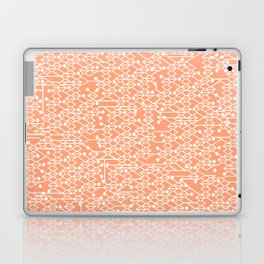Microchip Pattern (Orange) Laptop & iPad Skin
