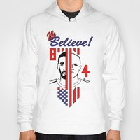 pirlo Hoodies featuring we believe!! by Miguel Angel Illustrations