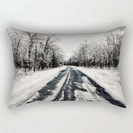 Snowy Roads Rectangular Pillow