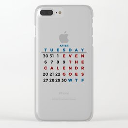 Calendar What The WTF Clear iPhone Case