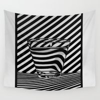 tequila Wall Tapestries featuring Trippin' Tequila by Ana Lillith Bar