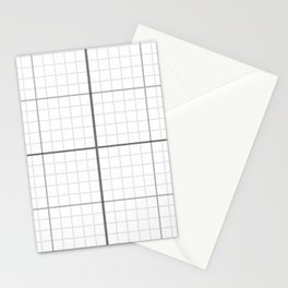 Grey Millimeter Paper Stationery Cards