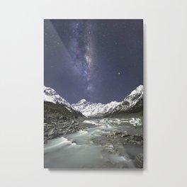 Starry Nights in Mt Cook, New Zealand Metal Print