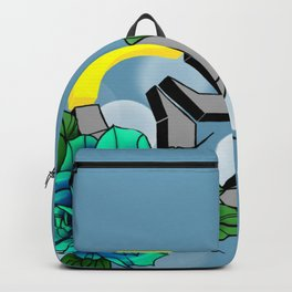 Over Watch Love Blue Backpack