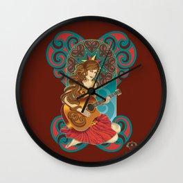 Acoustic Girl Wall Clock