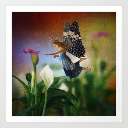 Floating Fairy Art Print