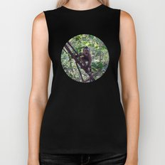 Monkey Sanctuary – Monkey with attitude Biker Tank