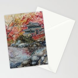 Fall (Watercolor painting) Stationery Cards