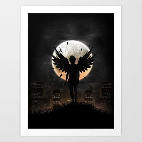 Lost in the world of humanity Art Print
