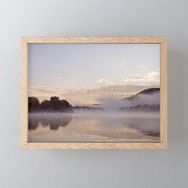 Into the Mists of Dawn: Sunrise on Lake George Framed Mini Art Print