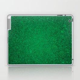 Jade Green Sparkling Jewels Pattern Laptop & iPad Skin