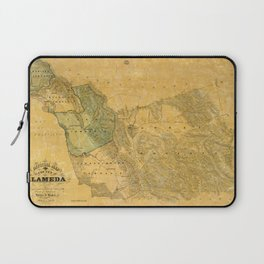 Map of Alameda 1857 Laptop Sleeve