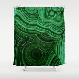 GREEN MALACHITE STONE PATTERN Shower Curtain