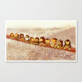 Lunch Atop City Canvas Print