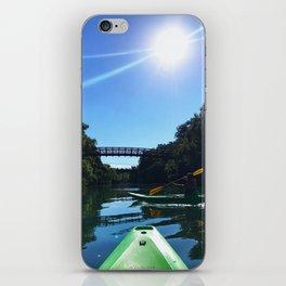 Kayaking in Austin iPhone Skin