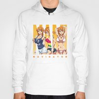 one piece Hoodies featuring Sexy Nami - One Piece by feimyconcepts05