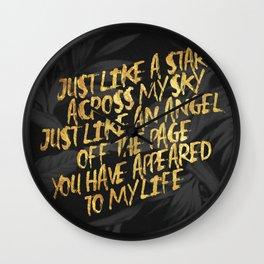 Like A Star  - Corinne Bailey Rae Wall Clock