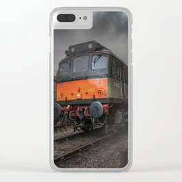 Train in the mist Clear iPhone Case