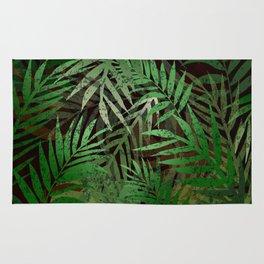 TROPICAL GREEN LEAVES BROWN B. Rug