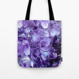 Amethyst Crystals Tote Bag