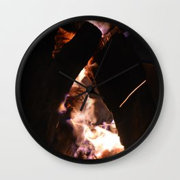 Camp Fire Wall Clock