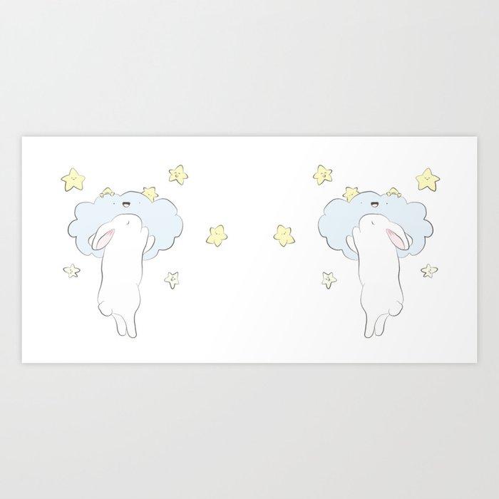 Sleepy Bunny Kunstdrucke