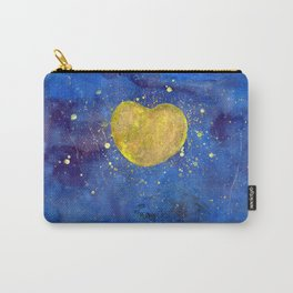 Heart shape Full Moon in the Universe Carry-All Pouch