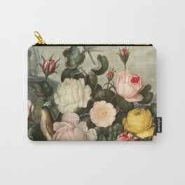 Pink  Red Floral : New Illustration Of The Sexual System Carry-All Pouch