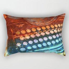 Typewriter Blue Red PopArt Rectangular Pillow