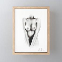 Nude Drawing Framed Mini Art Print