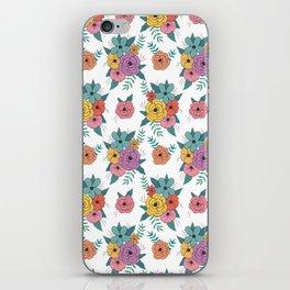 Gouache floral iPhone Skin