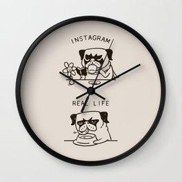 Instagram vs Real Life Wall Clock