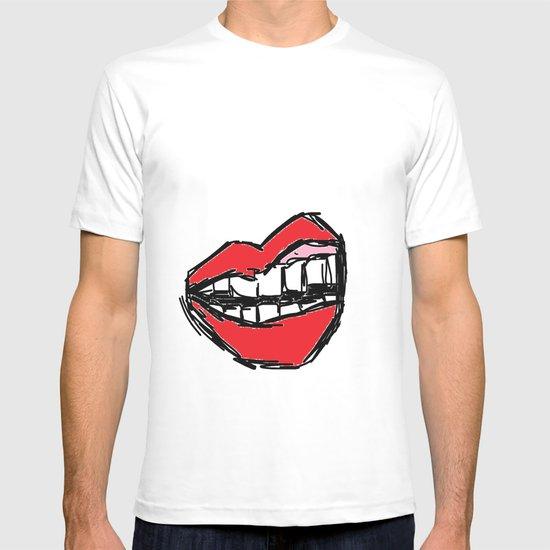 Rough sketch of Lips. T-shirt