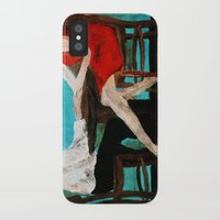 dress iPhone & iPod Cases featuring Red Dress by James Peart