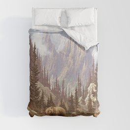 Grizzly Bear Landscape Comforters