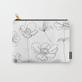 Botanical illustration drawing - Botanicals White Carry-All Pouch