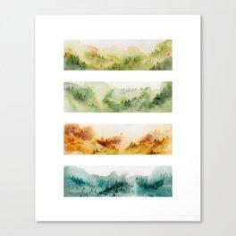 Watercolor seasons Canvas Print