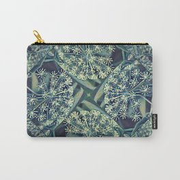 Green Plant Corner Carry-All Pouch
