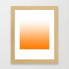 White and Orange Gradient 023 Framed Art Print