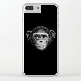 Chimpanzee Clear iPhone Case