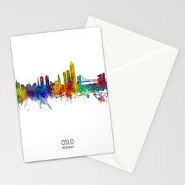 Oslo Norway Skyline Stationery Cards